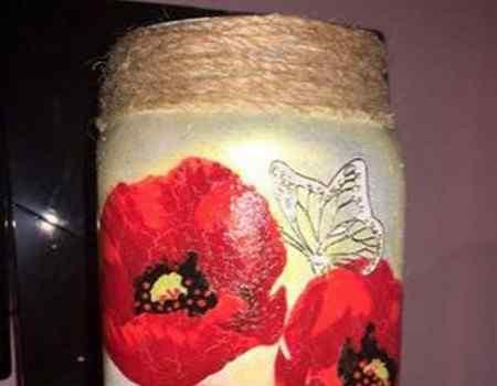 Красивая ваза из банки