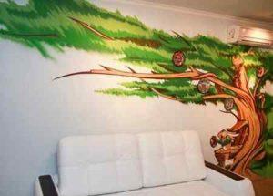 Преимущества использования граффити в интерьере