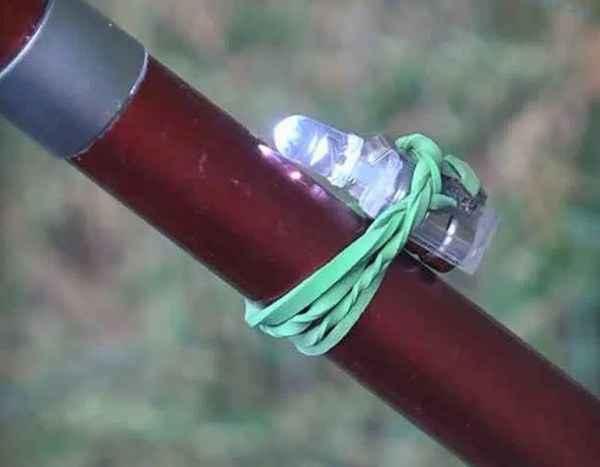 Самоделки для рыбалки - сигнализатор поклёвки из обычной зажигалки